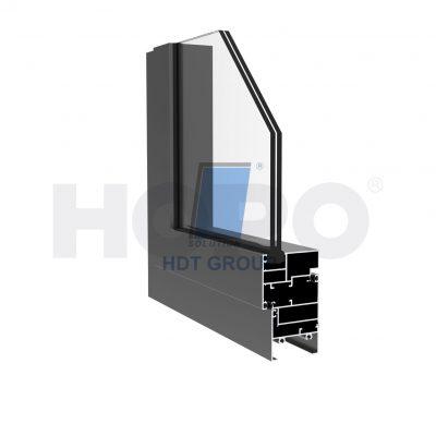 Mặt cắt cửa sổ mở qua slim