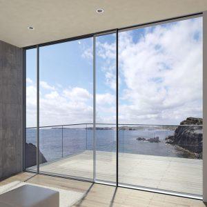 cửa trượt slim view ra biển